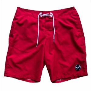 Hollister red board shorts